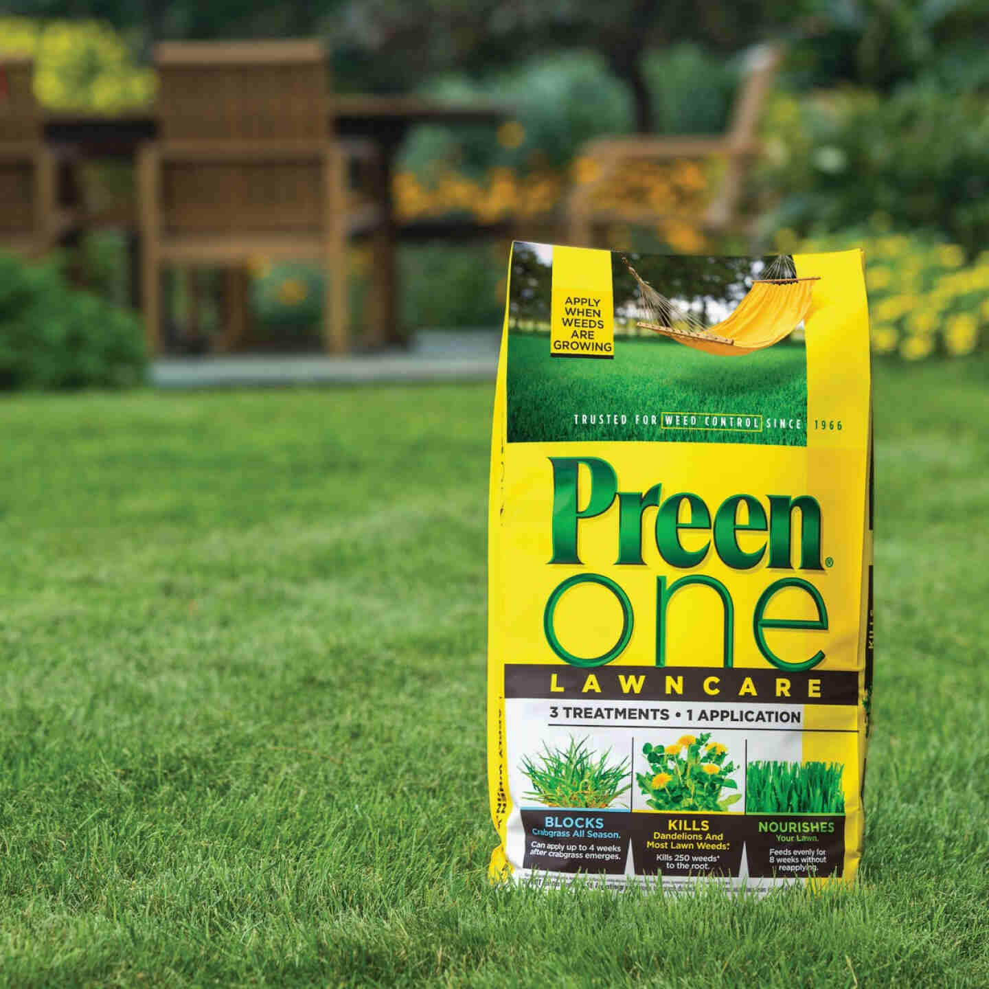 Preen One Lawn Care 18 Lb. Ready To Use Granules Weed Killer with Fertilizer Image 3