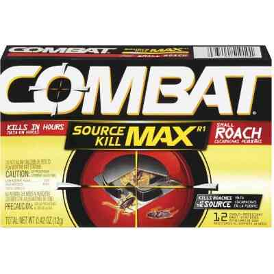 Combat Source Kill Max 0.42 Oz. Solid Small Roach Bait Station (12-Pack)