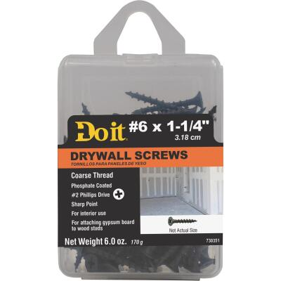 Do it #6 x 1-1/4 In. Coarse Thread Phosphate Drywall Screw