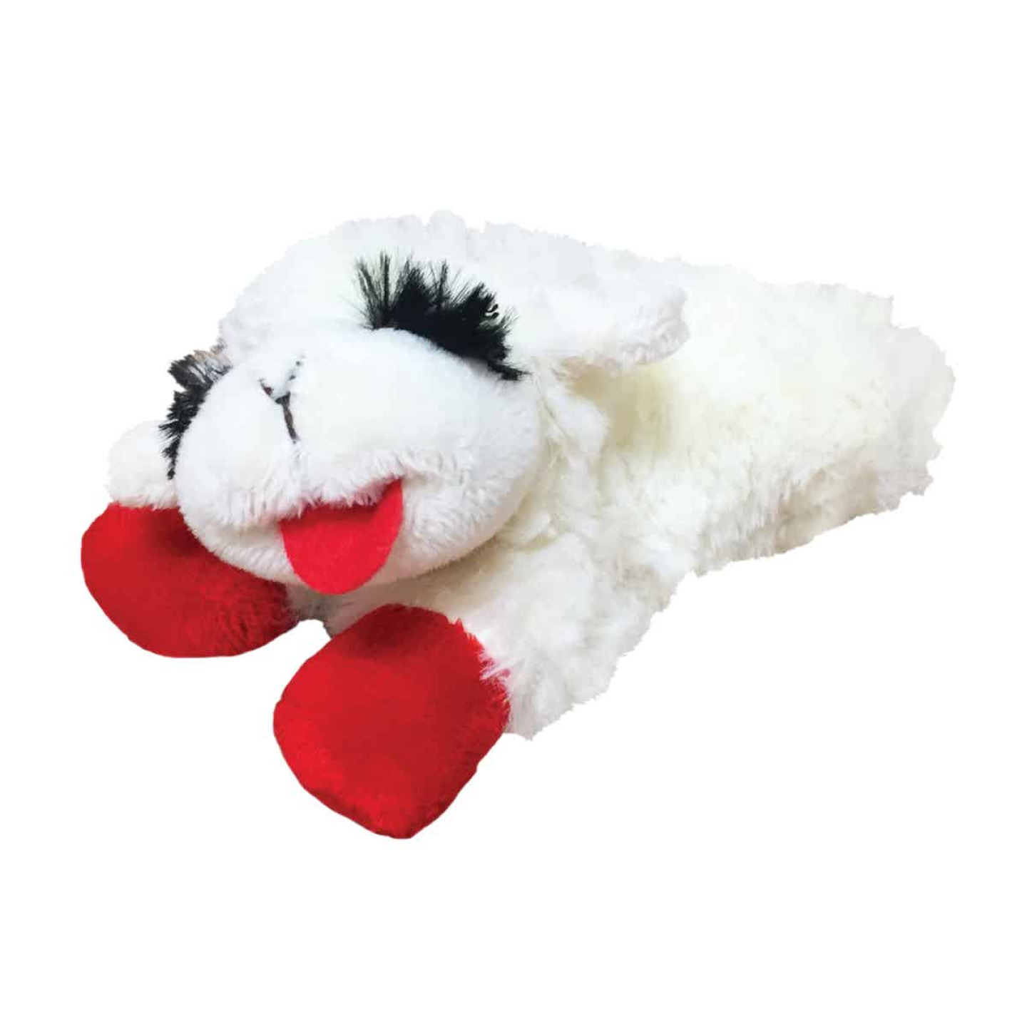 Multipet 6 In. Plush Lamb Chop Dog Toy Image 1
