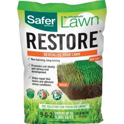 Safer Lawn Restore 25 Lb. 6250 Sq. Ft. 9-0-2 Lawn Fertilizer