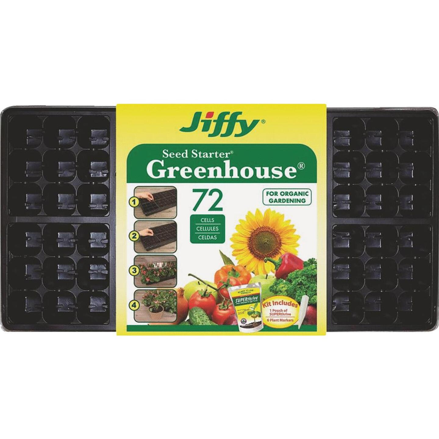 Jiffy 72-Cell Seed Starter Kit with Superthrive Image 1