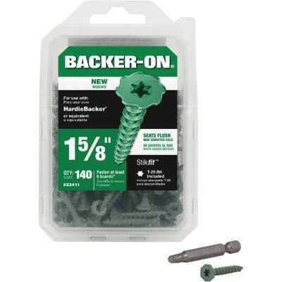 Buildex Backer-On #10 x 1-5/8 In. Cement Board Screw (140 Ct.)
