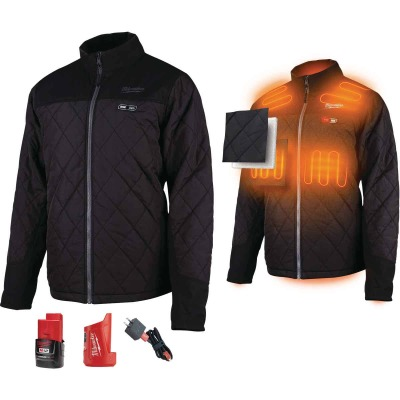 Milwaukee M12 Large Black Cordless Heated Axis Jacket