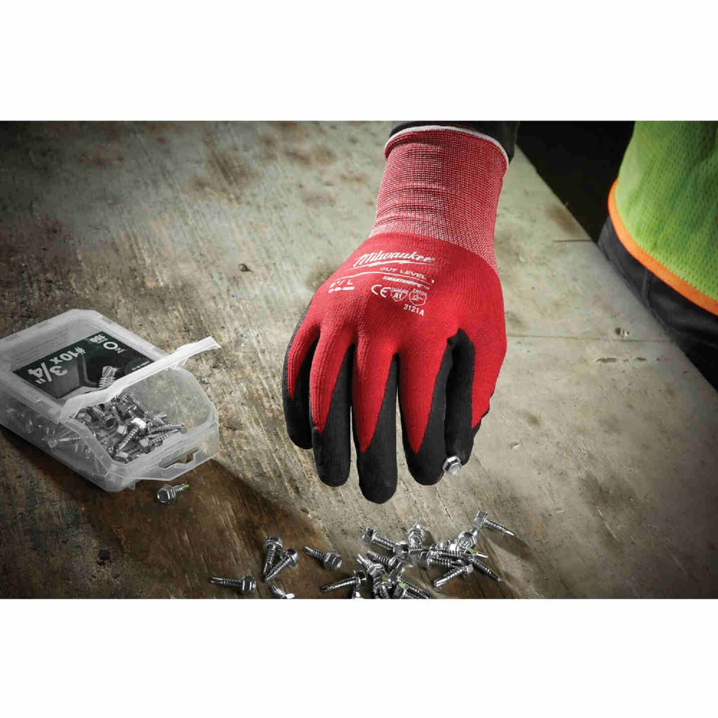 Milwaukee Unisex Large Nitrile Coated Cut Level 1 Work Glove Image 3