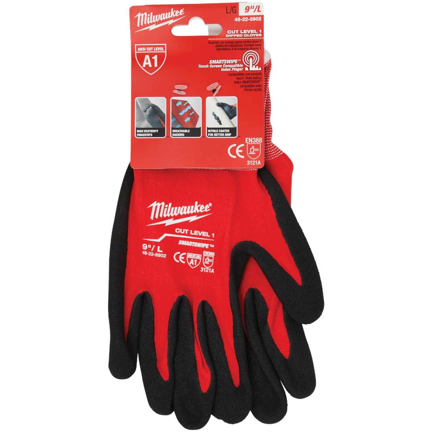 Milwaukee Men's Large Nitrile Coated Cut Level 1 Work Glove Image 6