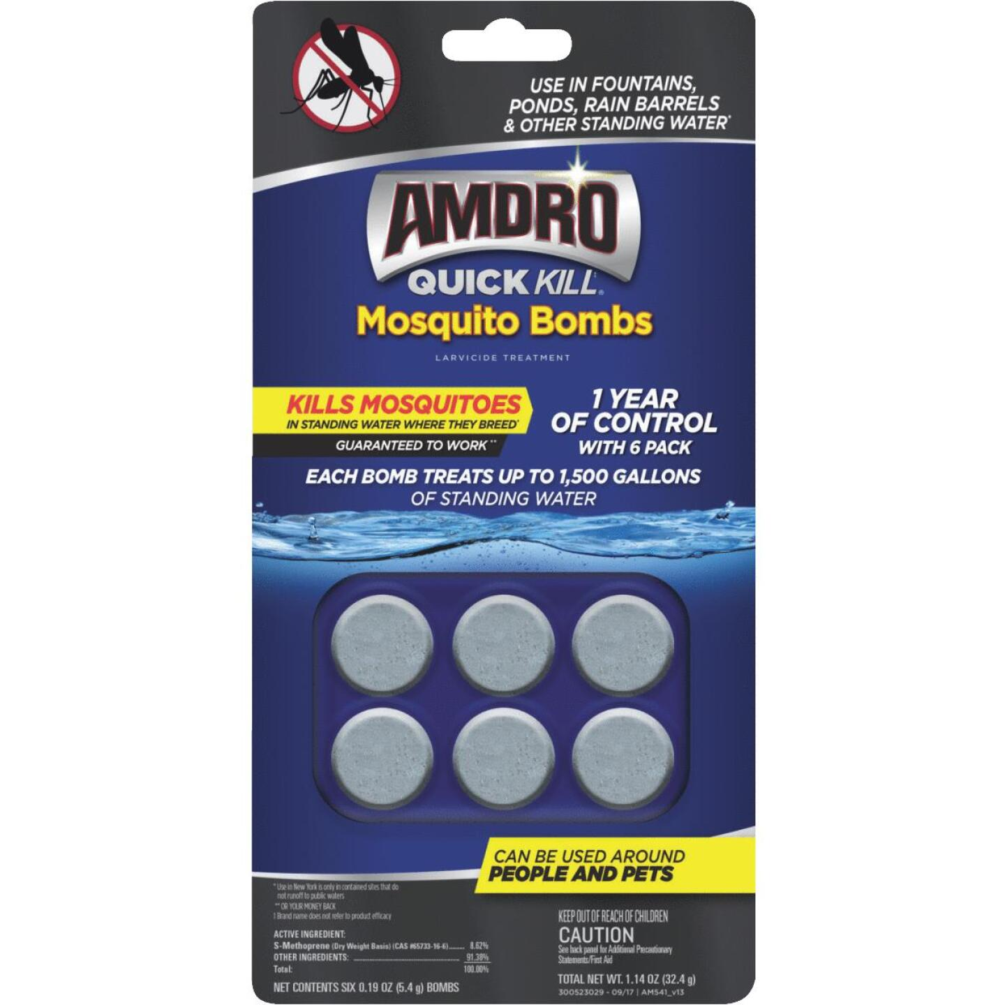 Amdro Quick Kill Ready To Use Tablet Mosquito Bombs, (6-Pack) Image 1