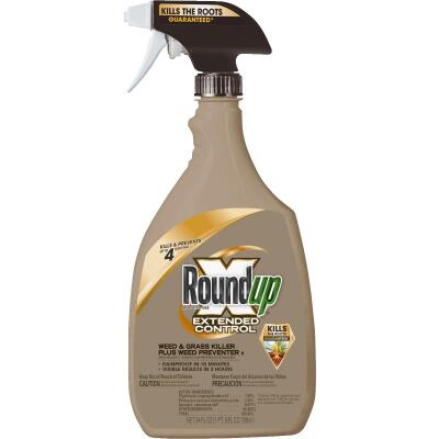 Roundup Extended Control 24 Oz. Ready To Use Trigger Spray Weed & Grass Killer Plus Weed Preventer II