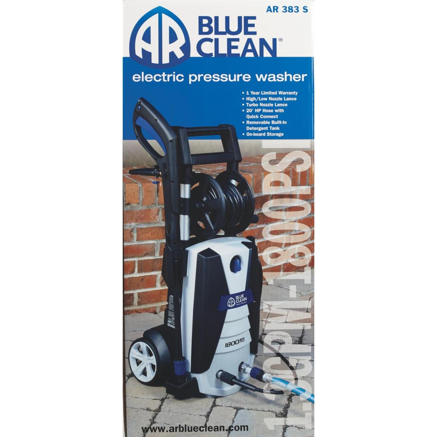 Blue Clean 2000PSI, 1.7GPM Cold Water Electric Pressure Washer Image 2