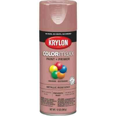 Krylon ColorMaxx 11 Oz. Metallic Satin Spray Paint, Rose Gold
