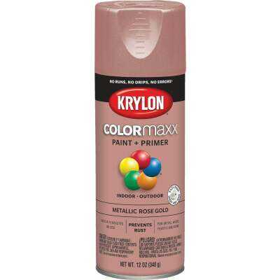 Krylon ColorMaxx 11 Oz. Metallic Satin Spray Paint, Rose Gold