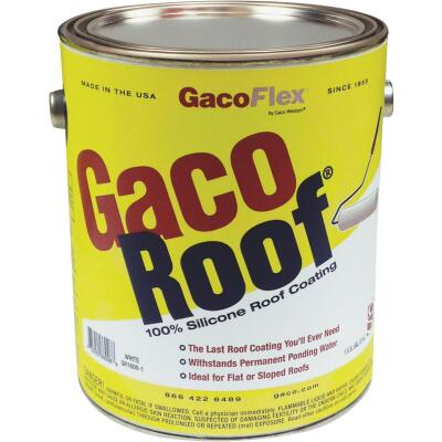 GacoFlex GacoRoof VOC-Compliant Silicone Roof Coating, White, 1 Gal.