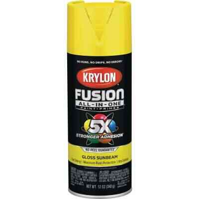 Krylon Fusion All-In-One Gloss Spray Paint & Primer, Sunbeam