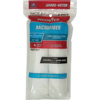 Wooster Jumbo-Koter 6-1/2 In. x 3/8 In. Mini Microfiber Trim Roller Cover (2-Pack)