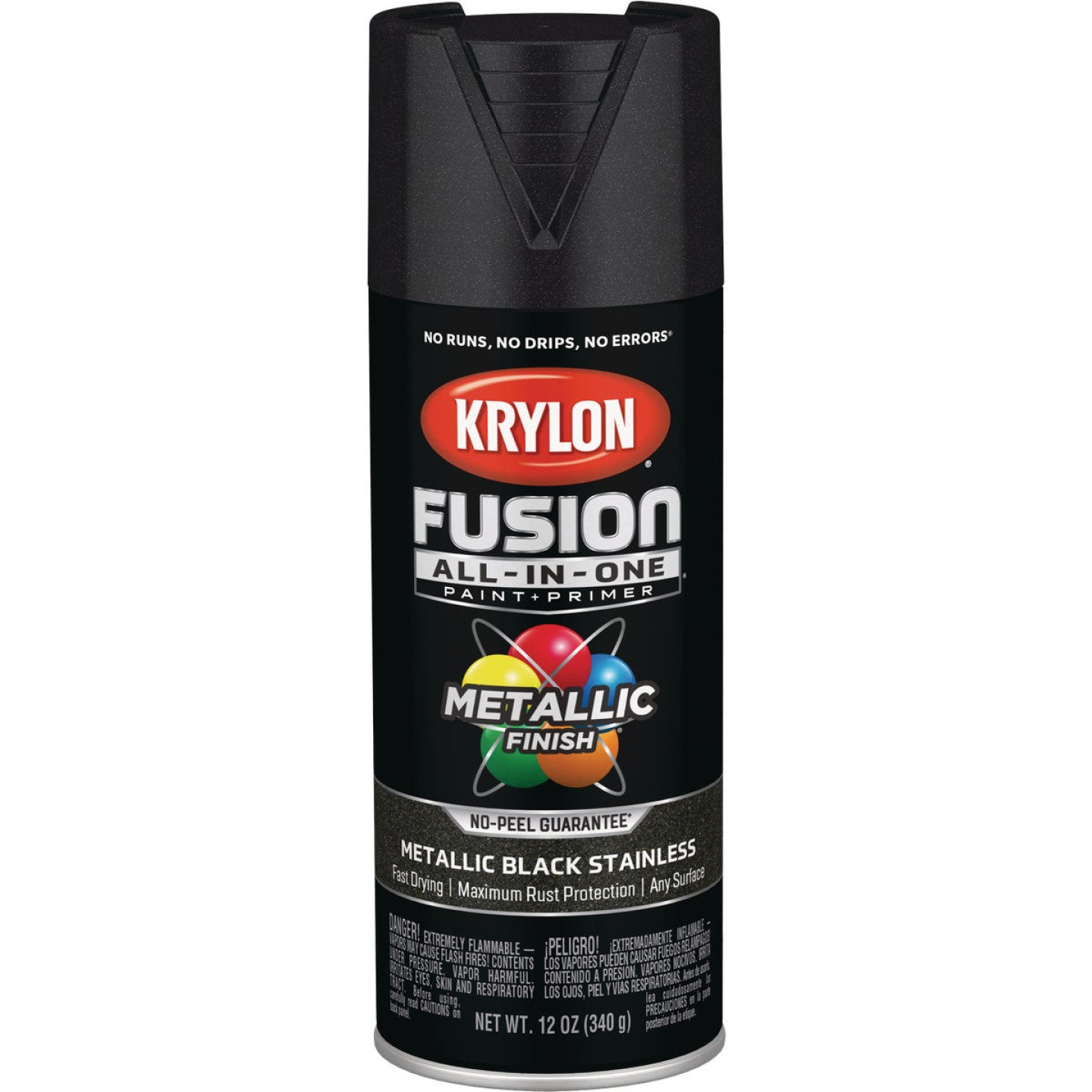 Krylon Fusion All-In-One Metallic Spray Paint & Primer, Black Stainless Image 1