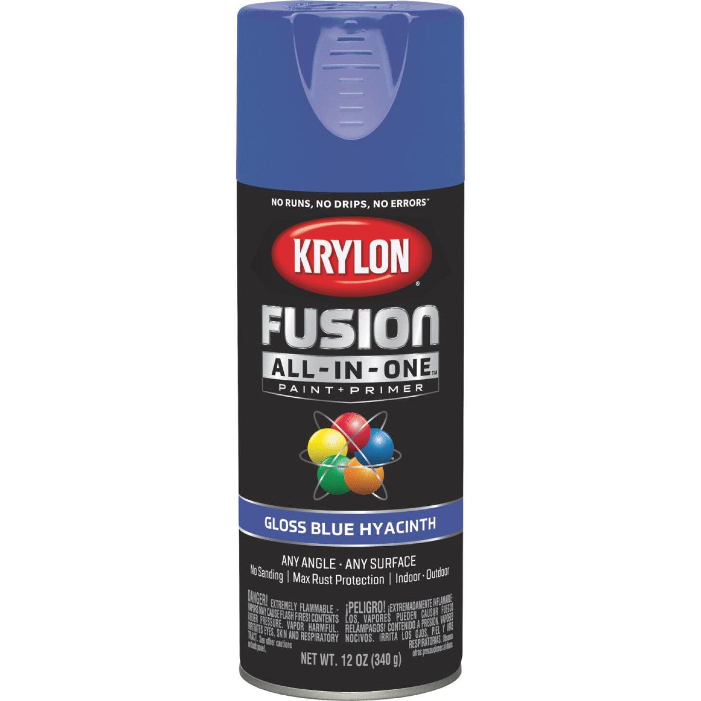 Krylon Fusion All-In-One Gloss Spray Paint & Primer, Hyacinth Blue Image 1