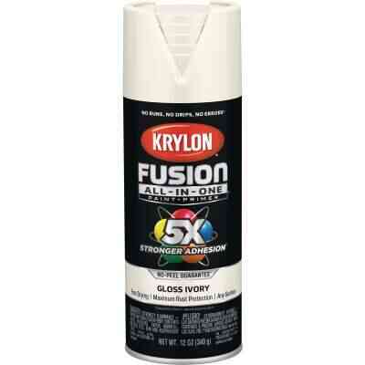 Krylon Fusion All-In-One Gloss Spray Paint & Primer, Ivory