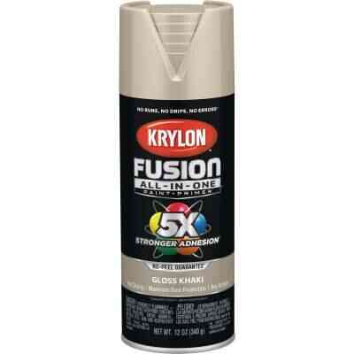 Krylon Fusion All-In-One Gloss Spray Paint & Primer, Khaki