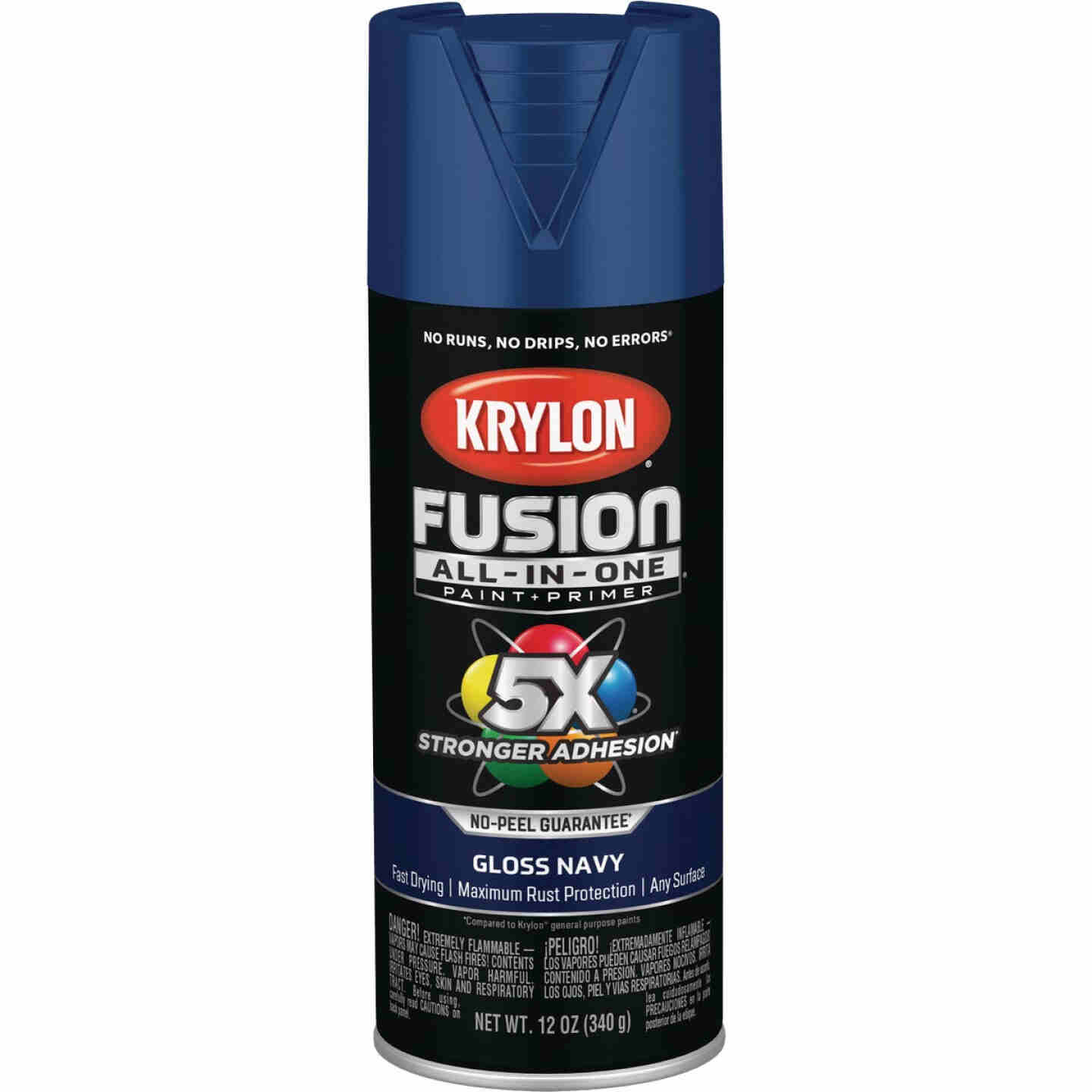 Krylon Fusion All-In-One Gloss Spray Paint & Primer, Navy Image 1