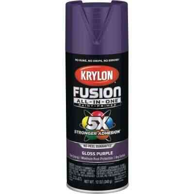 Krylon Fusion All-In-One Gloss Spray Paint & Primer, Purple