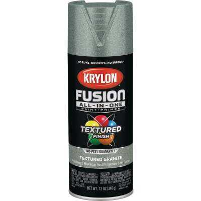 Krylon Fusion All-In-One Textured Spray Paint & Primer, Granite