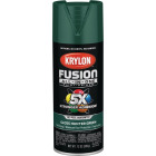 Krylon Fusion All-In-One Gloss Spray Paint & Primer, Hunter Green Image 1