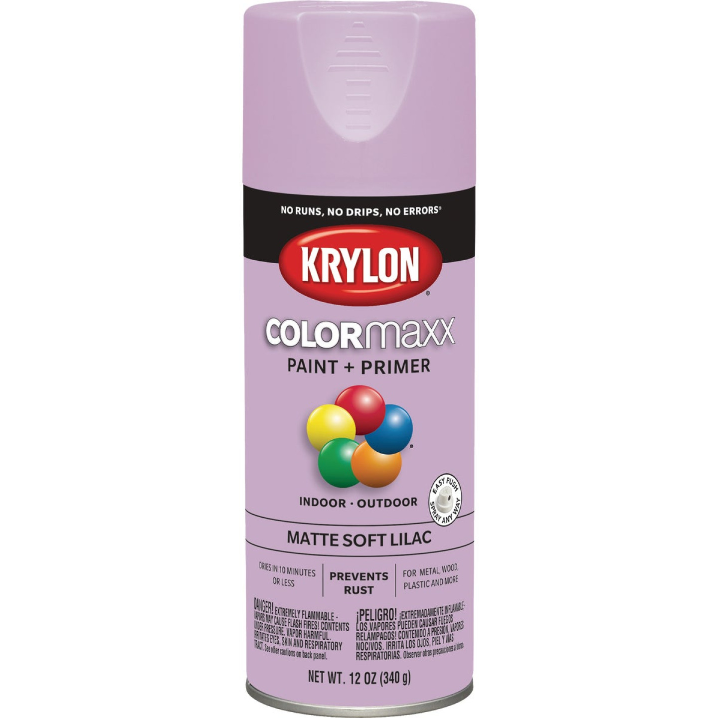 Krylon Colormaxx Matte Spray Paint & Primer, Soft Lilac Image 1