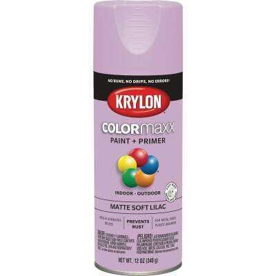 Krylon Colormaxx Matte Spray Paint & Primer, Soft Lilac