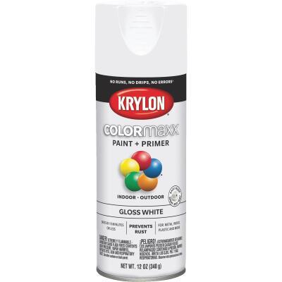Krylon ColorMaxx 12 Oz. Gloss Spray Paint, White