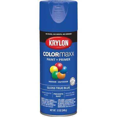 Krylon ColorMaxx 12 Oz. Gloss Spray Paint, True Blue
