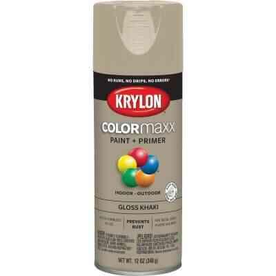 Krylon ColorMaxx 12 Oz. Gloss Spray Paint, Khaki