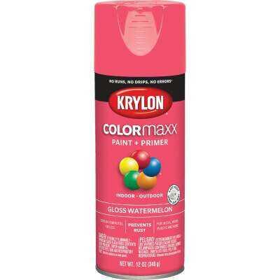 Krylon ColorMaxx 12 Oz. Gloss Spray Paint, Watermelon