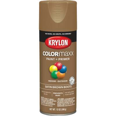 Krylon ColorMaxx 12 Oz. Satin Spray Paint, Brown Boots