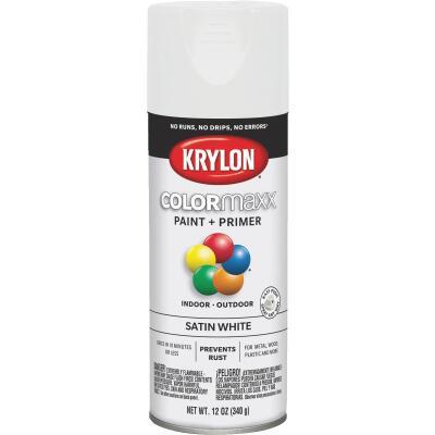 Krylon ColorMaxx 12 Oz. Satin Spray Paint, White