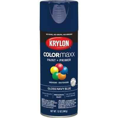 Krylon ColorMaxx 12 Oz. Gloss Spray Paint, Navy Blue