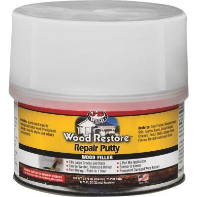 J-B Weld Wood Restore 12 Oz. 2-Part Repair Wood Putty