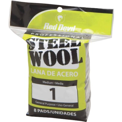 Red Devil #1 Steel Wool (8 Pack)