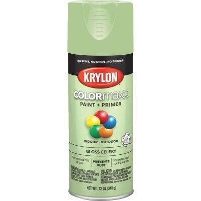 Krylon ColorMaxx 12 Oz. Gloss Spray Paint, Celery