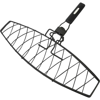 GrillPro 6.25 In. W. Steel Grill Fish Basket
