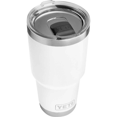Yeti Rambler 30 Oz. White Stainless Steel Insulated Tumbler with MagSlider Lid