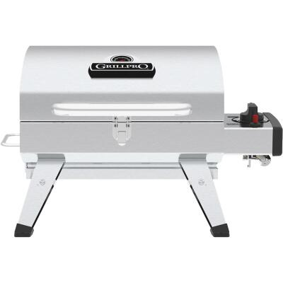 GrillPro Silver 200 Sq. In. Propane Gas Portable Grill