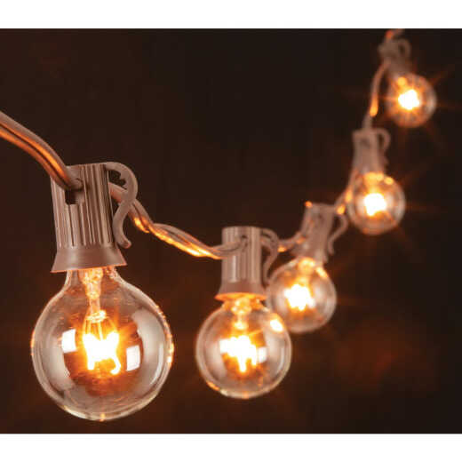 Gerson 20 Ft. 20-Light Clear Bulb String Lights