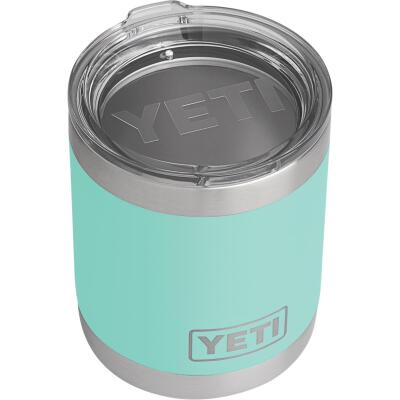 Yeti Rambler Lowball 10 Oz. Seafoam Stainless Steel Insulated Tumbler