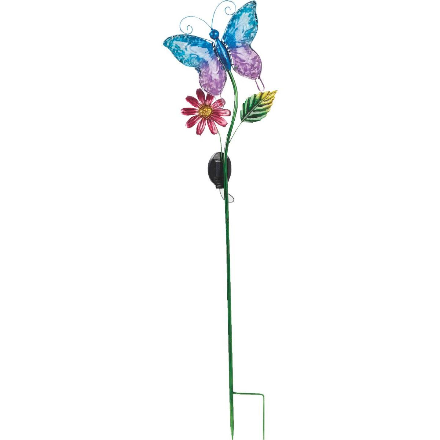 Outdoor Expressions Steel & Glass 20.5 In. H. Solar Stake Light Image 4