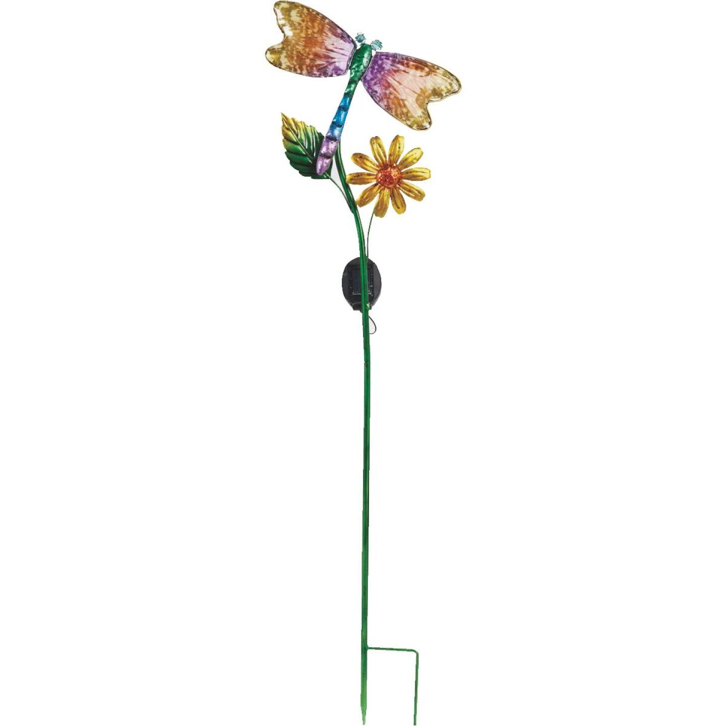 Outdoor Expressions Steel & Glass 20.5 In. H. Solar Stake Light Image 5