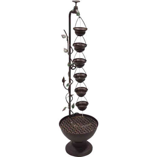 Alpine 11 In. W. x 38 In. H. x 10 In. L. Metal Hanging Cup Fountain