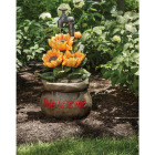 Best Garden 13 In. W. x 28 In. H. x 13 In. L. Polyresin Sunflower Fountain Image 2