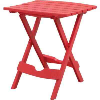Adams Quik-Fold Cherry 15 In. x 17.5 In. Rectangle Resin Folding Side Table