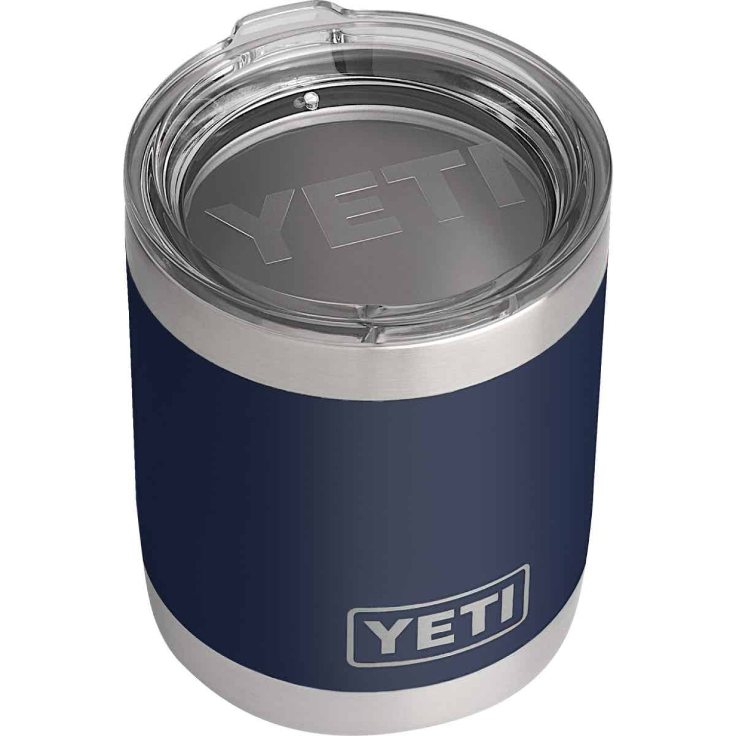 Yeti Rambler Lowball 10 Oz. Navy Blue Stainless Steel Insulated Tumbler Image 1