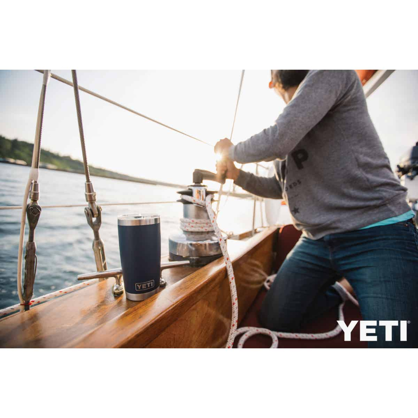 Yeti Rambler 20 Oz. Navy Blue Stainless Steel Insulated Tumbler with MagSlider Lid Image 2